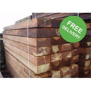 New Brown Railway Sleepers - 2400 x 200 x 100mm