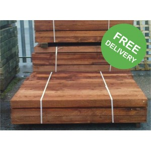 New Brown Railway Sleepers - 1200 x 200 x 100mm