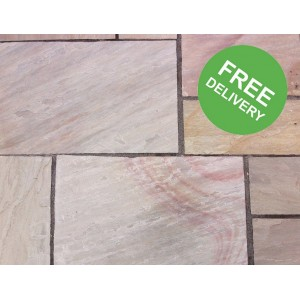 Sandstone Paving - Rippon 22.3m2 Patio Pack - Free Delivery